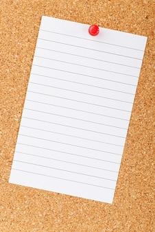 Blank business board empty cork corkboard
