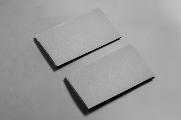 Blank business card mock up