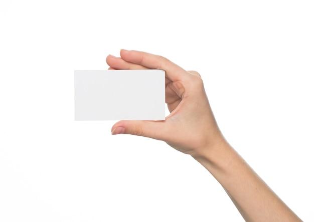 Пустая визитка на белом фоне