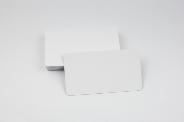 Blank business card template