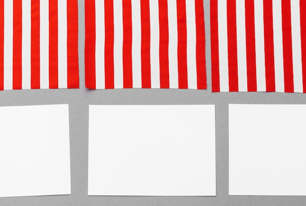 Blank business card with american flag
