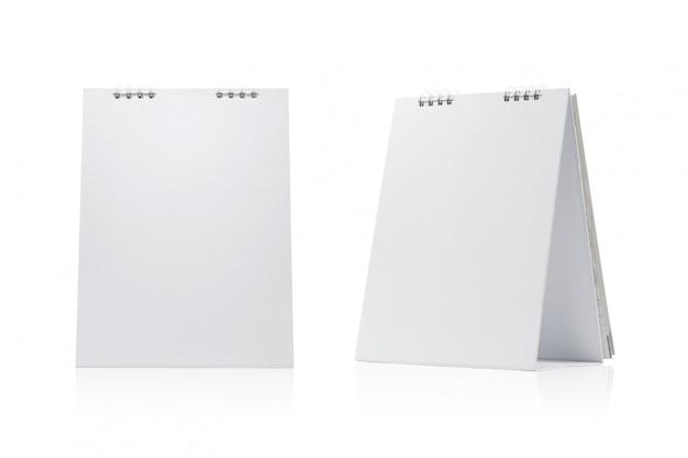 Blank calendar isolated on white background.
