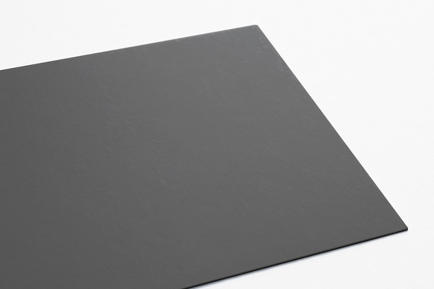 Blank card isolated on white. close view 3d render.