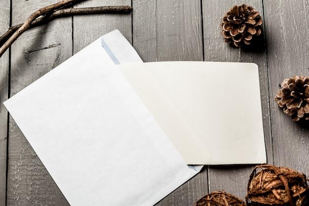 Blank card in white envelope