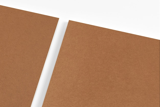 Blank carton paper stationery isolated