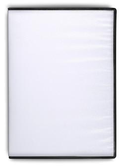 Пустая коробка для компакт-дисков или dvd на белом фоне.