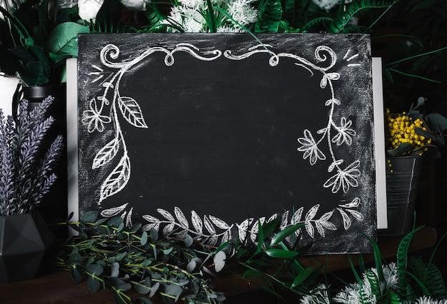 Blank charcoal board