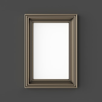 Blank classic frame. ornamental gold color.