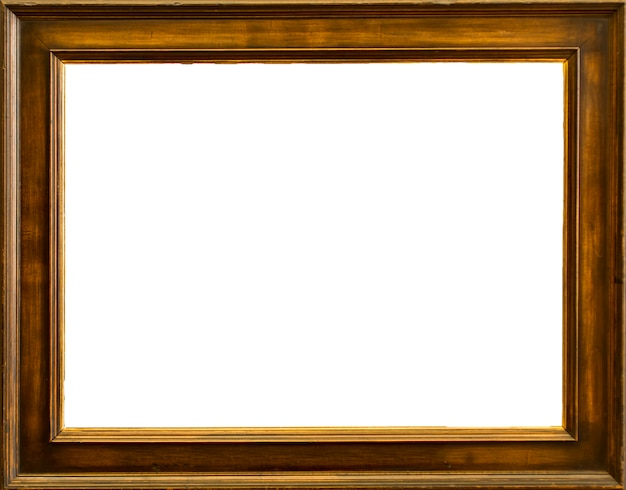 Blank classic frame with isolated white background