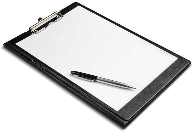 ペンで空白のクリップボード