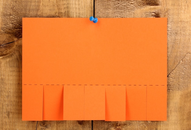 Blank color advertisement on wooden
