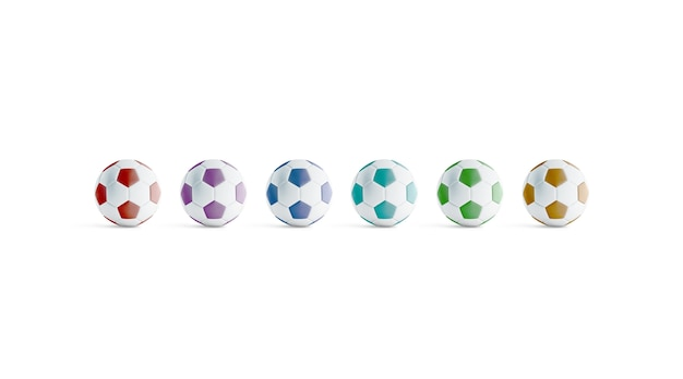 Blank colored soccer ball