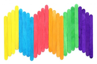 Blank colorful wood ice-cream stick