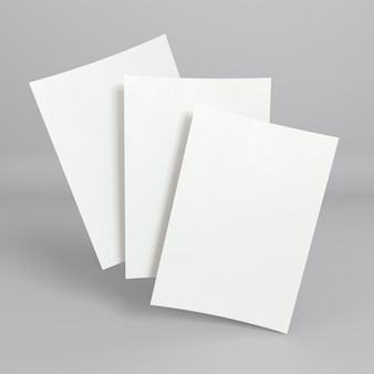 Blank corporate copy space business cards front view