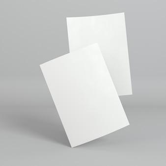 空白の企業コピースペース2枚の名刺
