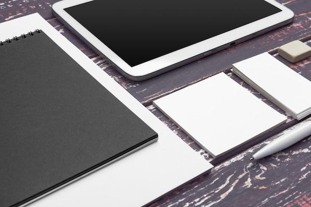 Blank corporate identity and mobile web