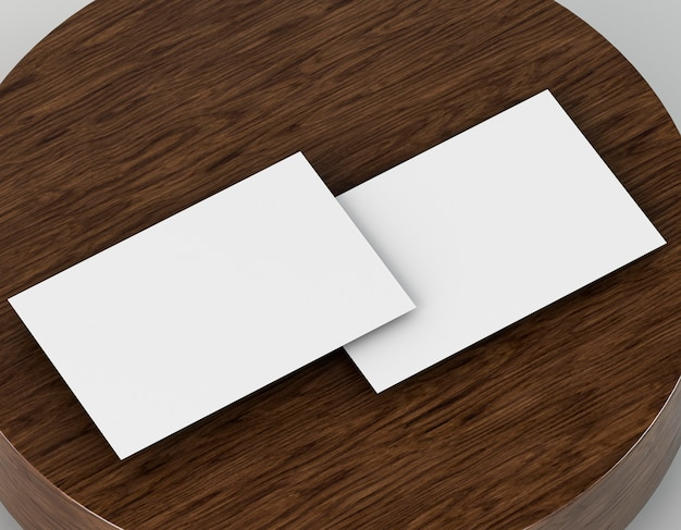 Blank corporate stationery copy space business card