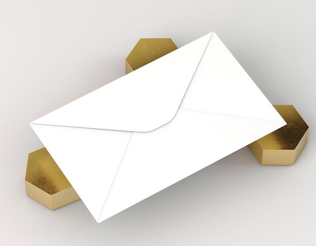 空白の企業の文房具の封筒