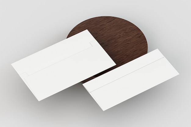 Blank corporate stationery with shadows