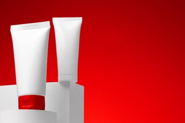 空白の化粧品スキンケア容器