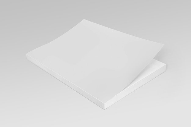Blank cover book template on gray background