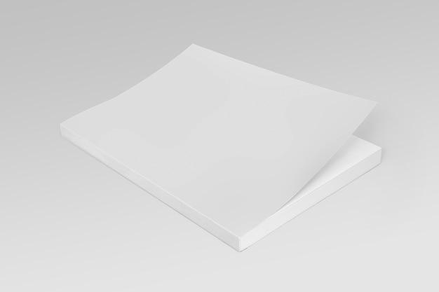 회색 배경에 빈 표지 책 템플릿