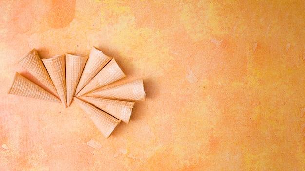 Blank crispy ice cream cones