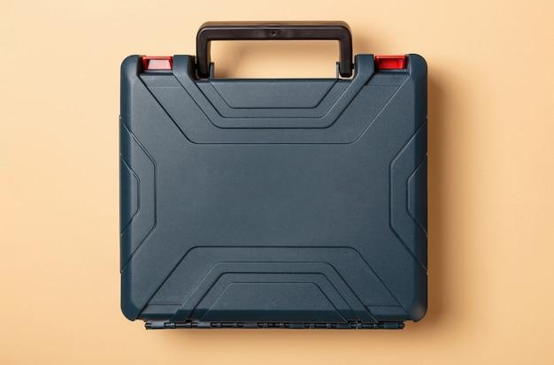 ハンドル付きブランクダークグリーンの硬質プラスチックケース