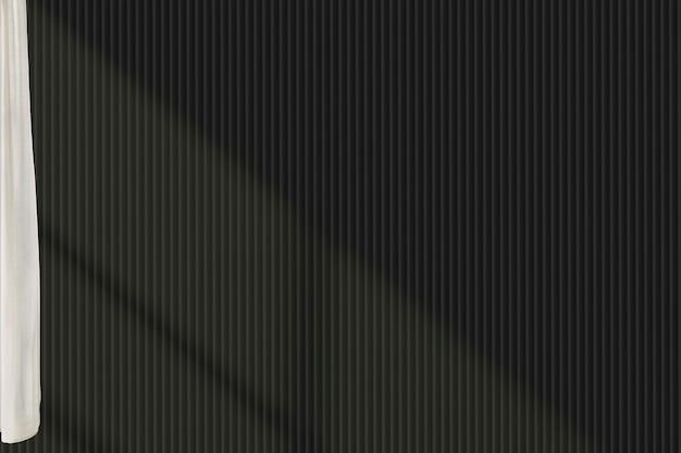 Blank dark wall in a living room