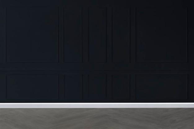 Blank dark wall mockup in a living room