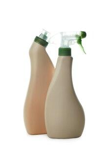 白い孤立した背景に分離された空白の洗剤ボトル