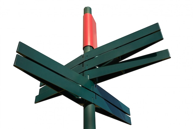 Blank directional sign post ( clipping path)