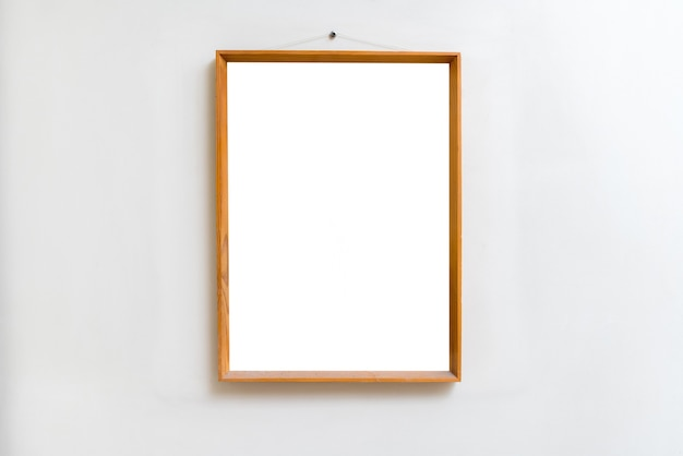 Blank empty frame in art gallery. museum exhibition white