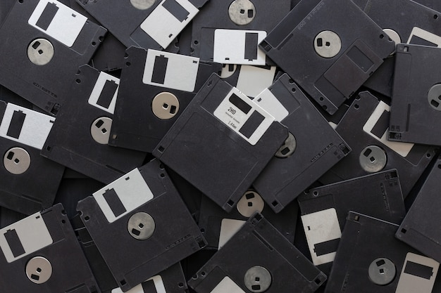 Blank floppy disks  background