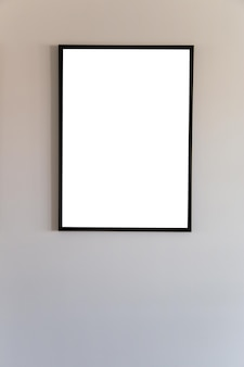 Blank frame mock up for text message or content.