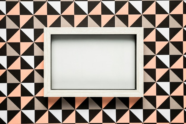 Blank frame on patterned background