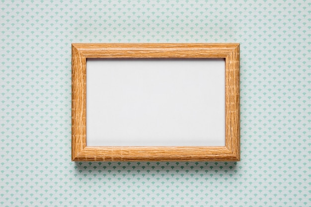Blank frame on simple background