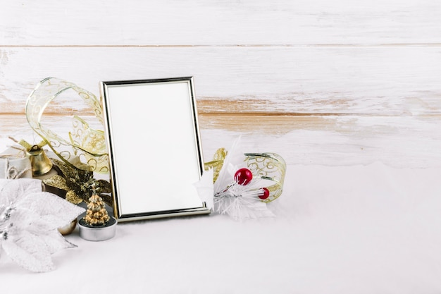 Blank frame with colourful leaflets
