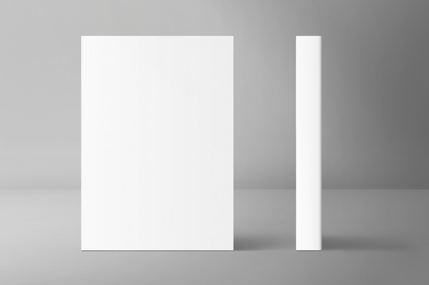 Blank front and side book cover
