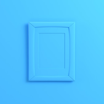 Blank frrame on bright blue background