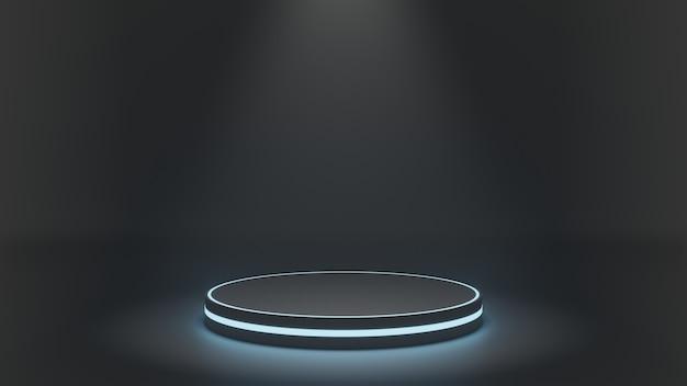 空白の未来的な表彰台。