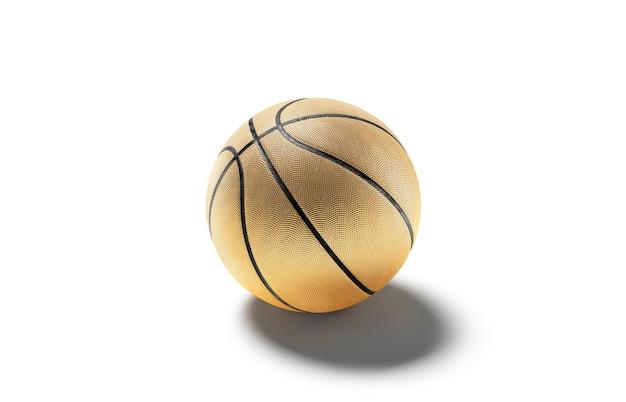 空白の金のゴム製バスケットボールボールは、リーグ競技のモックアップ用の空のバスケットボール用品をモックアップします