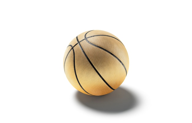 Blank gold rubber basketball ball mock up empty basketbal equipment for league compete mockup