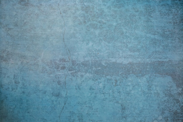 Blank grunge concrete wall blue color for texture background