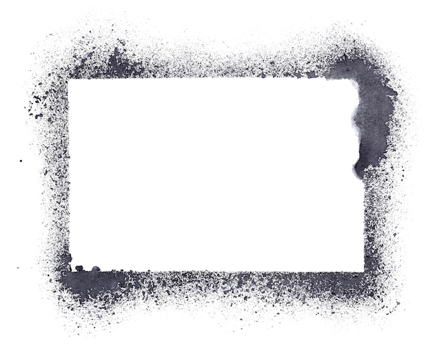 Blank grunge stencil frame  - raster illustration