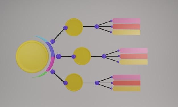 Пустой инфографический шаблон 3d-дизайн