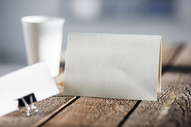 空白の招待状のグリーティングカード