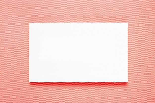 Blank invitation with orange background