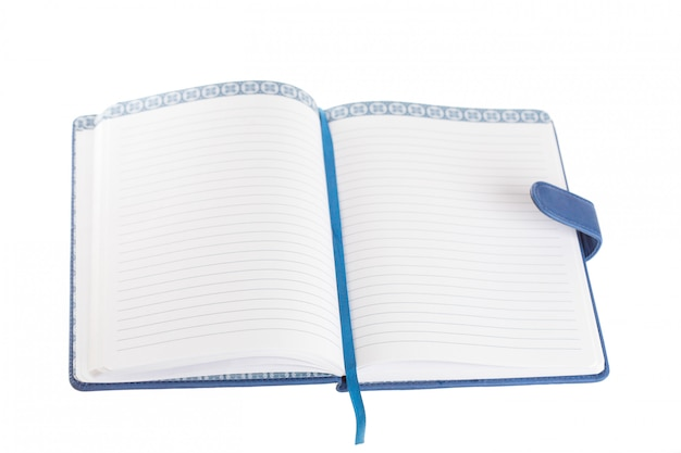 Blank journal book with open blank pages