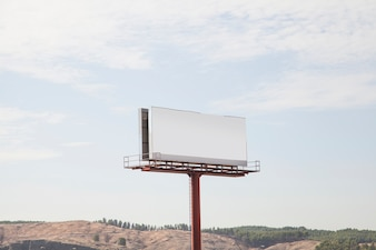 Blank large hoarding billboard against sky